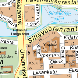 Guide map of the Region of Helsinki
